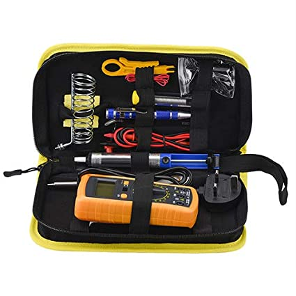 Soldering Iron Kit 60W Thermostatable Soldering Tool, Digital Multimeter, Soldering Iron Tip, Suction