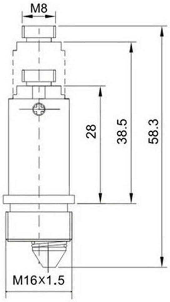 Perno Ba/ñera F/ácil Reemplazo emergente universal Tipo de empuje Tap/ón de drenaje Fregadero Cobre Ligero