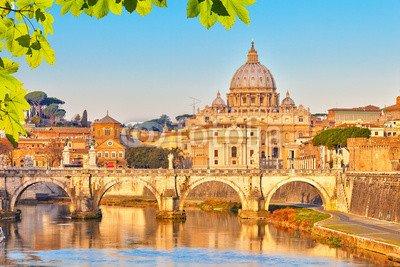 """Alu-Dibond-Bild 80 x 50 cm  """"St. Peter s cathedral in Rome"""", Bild auf Alu-Dibond"""