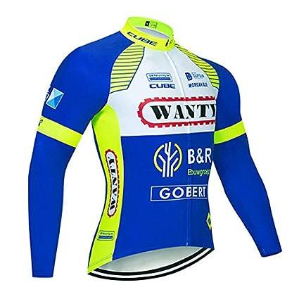 SUHINFE Maillot Ciclismo Hombre Manga Larga, Camiseta Ciclismo ...