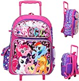 My Little Pony 16' Large Rolling School Backpack Girl's Book Bag