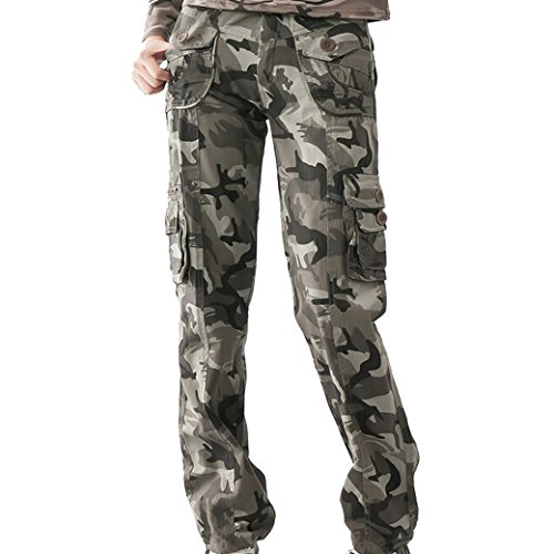 TANGDA Women Cotton Blend Camouflage Camo Printed Pants(2015#) Size XL