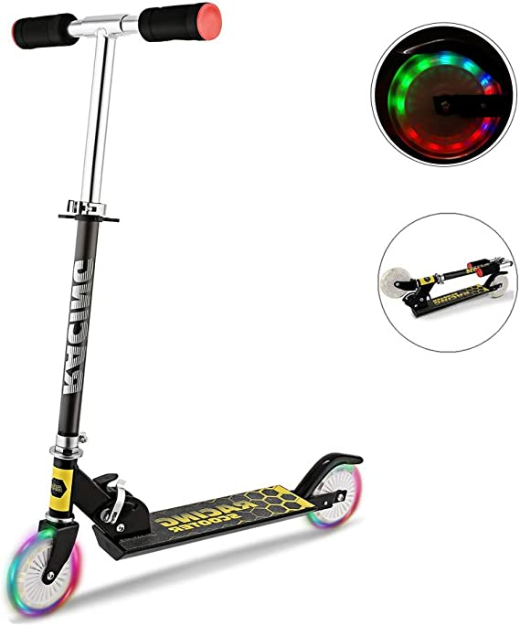 Details about  /Upgrade 4 LED Wheels Scooter Scooter Children Roller Tret Roller City Scooter Kick Scooter show original title