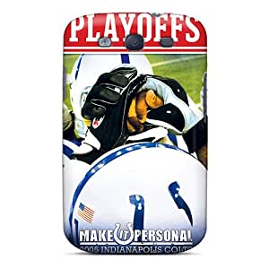 JoanneOickle Samsung Galaxy S3 Great Hard Cell-phone Case Allow Personal Design Colorful Indianapolis Colts Pictures [pMr17598wYdH]