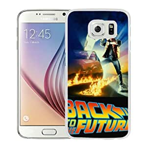 Popular Custom Designed Case For Samsung Galaxy S6 With Back to the Future White Phone Case