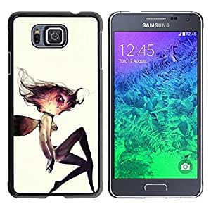 For Samsung GALAXY ALPHA G850 Case , Cosmos Woman Watercolor Deep - Diseño Patrón Teléfono Caso Cubierta Case Bumper Duro Protección Case Cover Funda