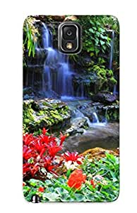 Ohiiky-5077-wotrmon Case Cover Nature Landscapes Garden Plants Flowers Pool Trees Colors Leaves Compatible With Galaxy Note 3 Protective Case