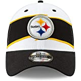 94180b6eedd New Era Men s Pittsburgh Steelers White Black Thanksgiving 39THIRTY Flex Hat