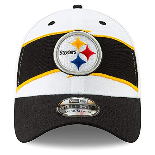 Amazon.com   New Era Men s Pittsburgh Steelers White Black Thanksgiving 39THIRTY  Flex Hat   Sports   Outdoors cb514e0d8