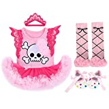 Newborn Infant Baby Girls It's My 1st Christmas Costume Tutu Romper Dress One-Piece Bodysuit Jumpsuit Playsuit Headband Shoes Xmas Outfit Set 4PCS Red Elk Merry Christmas 0-3 Months