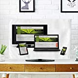 Analisahome TV dust Cover Responsive Web Design on Mobile Devices Phone Laptop and Tablet pc TV dust Cover W20 x H40 INCH/TV 40''-43''