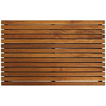 Bare Decor Zen Spa Shower Or Door Mat In Solid Teak Wood And Oiled Finish,  31.5 By 19.5 Inch