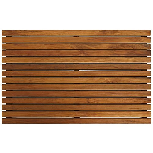 Teak Wood Zen Shower Spa Sauna Bathroom Door Floor Mat