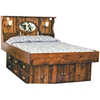 Strobel Organic Tampa Complete Waterbed Premium Solid White Pine Oak Finish Queen