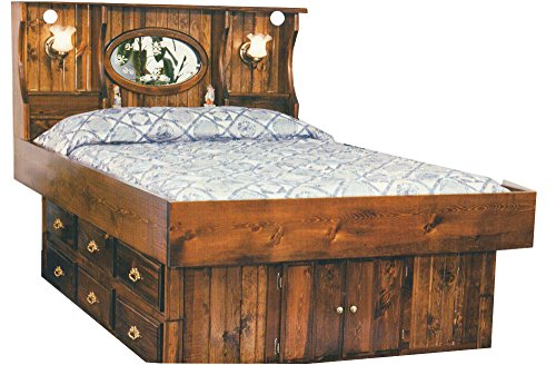 Waterbeds Pine (Strobel Organic Tampa Complete Waterbed Premium Solid White Pine Walnut Finish King)