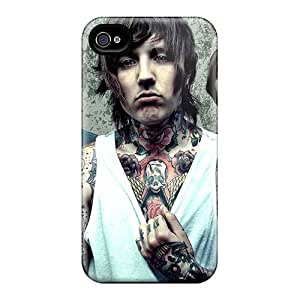 Shockproof Cell-phone Hard Covers For Iphone 4/4s With Customized Stylish Bring Me The Horizon Band Bmth Series CharlesPoirier