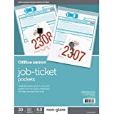 Office Depot Job Ticket Holders, 9in. x 12in, Pack of 20, R179919