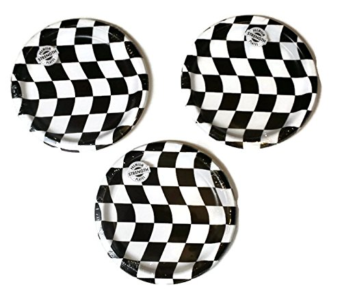 Open Wheel Indy Car Racing Checkard Flag Party Plates (24)]()