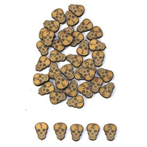 Tokens, Markers, & Templates Marker Set - Skull Wound