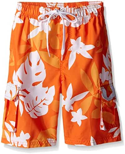 Kanu Surf Boys' Voyage Floral Swim Trunk