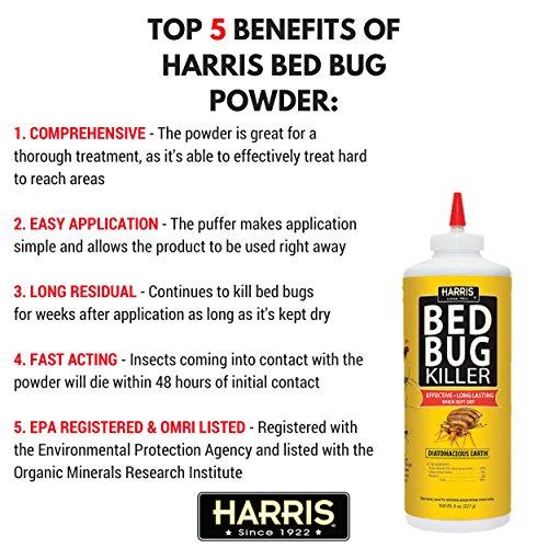 harris diatomaceous earth bed bug powder 8oz bnc