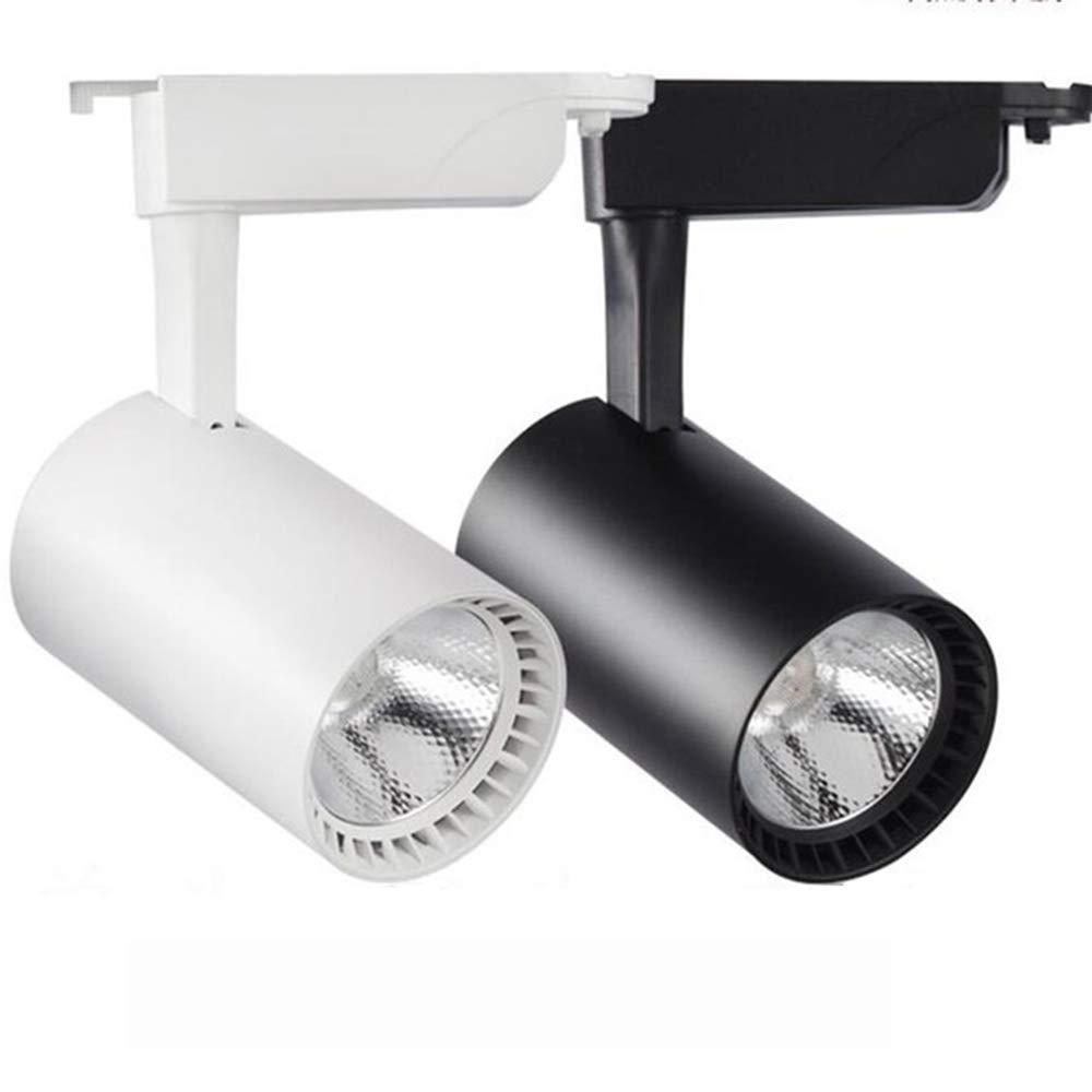 12w Led Track Light,Modern Aluminum Ceiling Rail Track Lighting Spot Rail Spotlights Replace White Lights (Color : White, Size : ColdWhite)