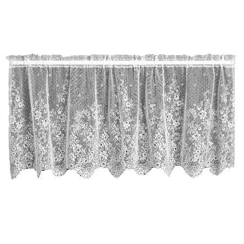 (Heritage Lace Floret 60-Inch Wide by 30-Inch Drop Tier, White by Heritage Lace)