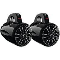BOSS Audio MRWT40 400 Watt (Per Pair) , 4 Inch, Full Range, 2 Way, Weatherproof, Marine Grade Roll Cage / Waketower Speaker System (Sold in Pairs)