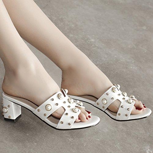 AIYOUMEI sulla Donna Caviglia Bianco Aperte r4TqrxH