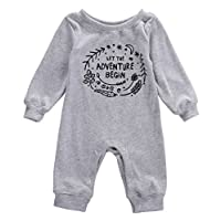"""Toddlers Baby Cute One Piece """"Adventure Begin"""" Rompers Bodysuit 0-24 Month (0..."""