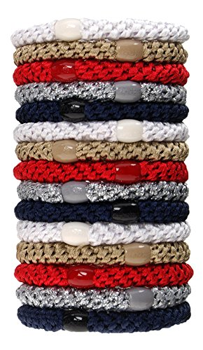 (L. Erickson Grab & Go Ponytail Holder, Anchor, Set of Fifteen - Exceptionally Secure with Gentle Hold)