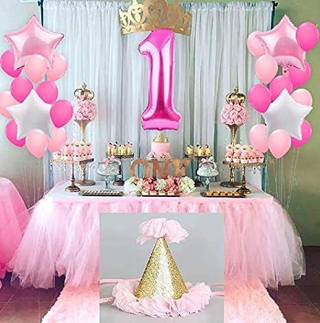 Festiko 1st Birthday Decoration For Baby Girl 1st Birthday Decoration Combo First Birthday Decorations Items For Girls First Birthday Decorations Girl Set Of 26 Amazon In Toys Games