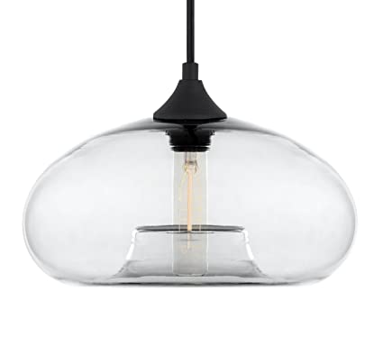 Cassini Large Clear Glass One Light Kitchen Island Light