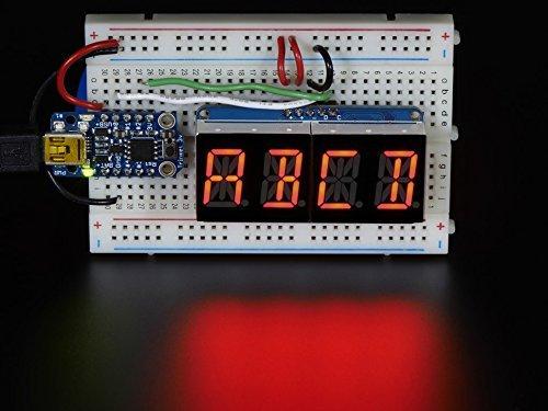 - Quad Alphanumeric Display - Red 0.54