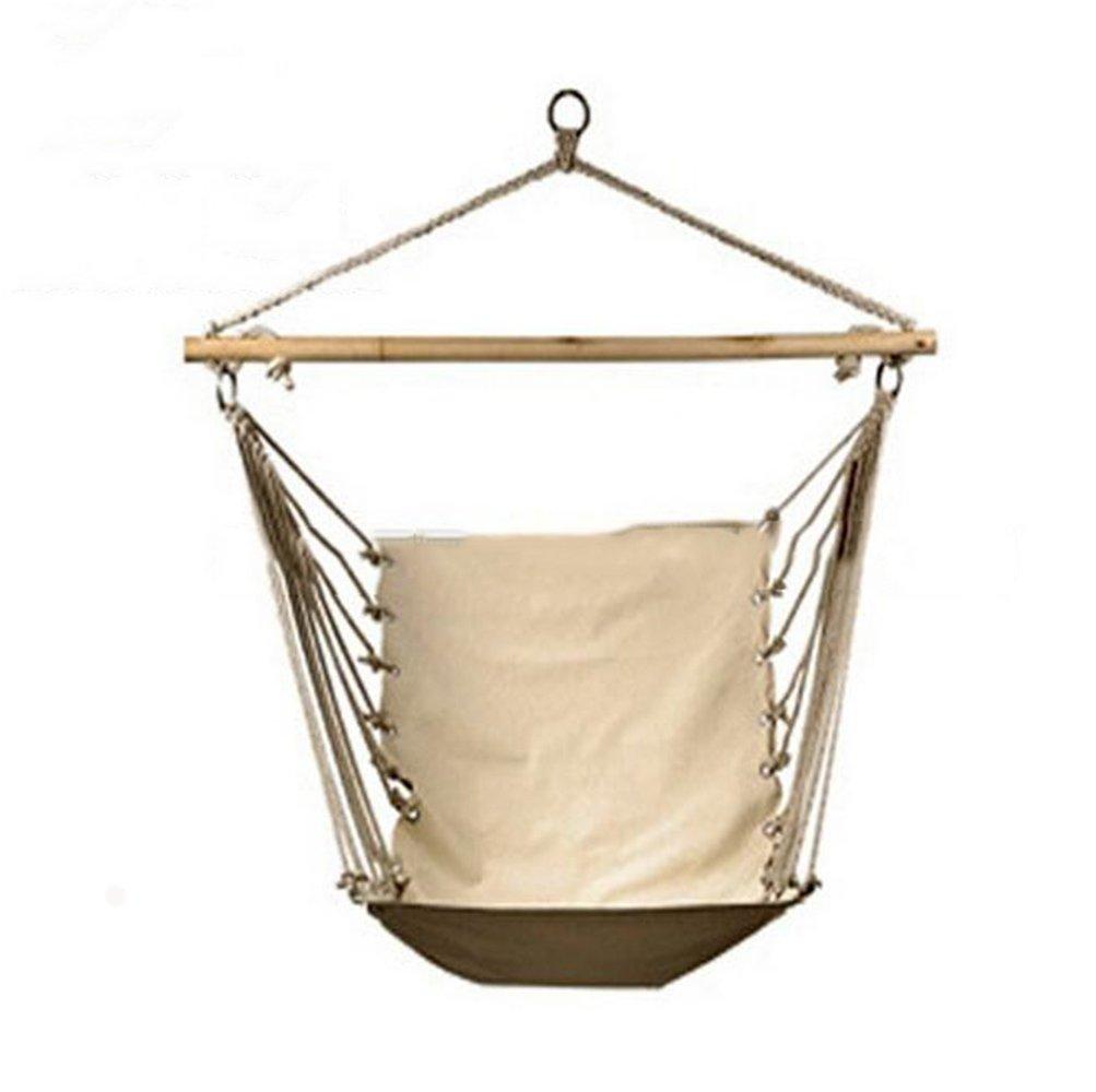 RDJM Hängenden Seil Hängestuhl Veranda Schaukel Sitz Qualität Baumwolle Weben Für Superior Komfort Und Haltbarkeit, Garten, Terrasse, Veranda, Hof, Weiß