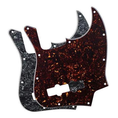 FidgetGear 2 piezas 4 capas eléctrico JB Bass Pickguard 10 agujeros para 4 cuerdas Fender Jazz Bass: Amazon.es: Instrumentos musicales