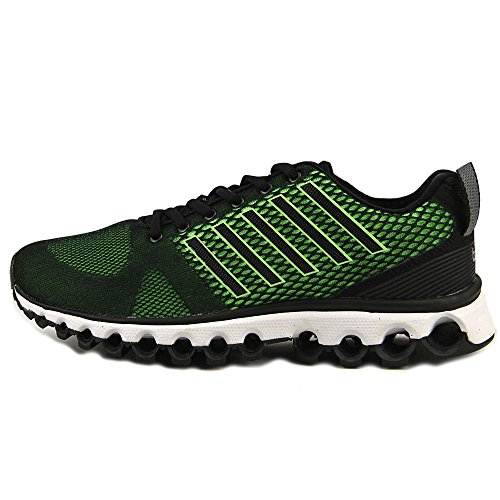 K-swiss Mens X-180 Scarpa Da Tennis Nera / Scream Verde