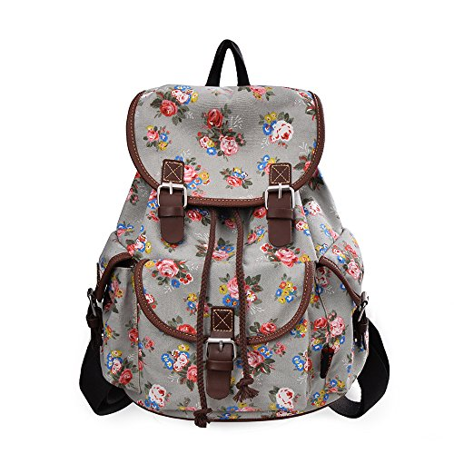 C LEATHERS Backpack Daypack Schoolbags 163White