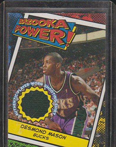 2005 Bazooka Desmond Mason Bucks Game Used Shooting Shirt Basketball Card (Mason Autographed Basketball)
