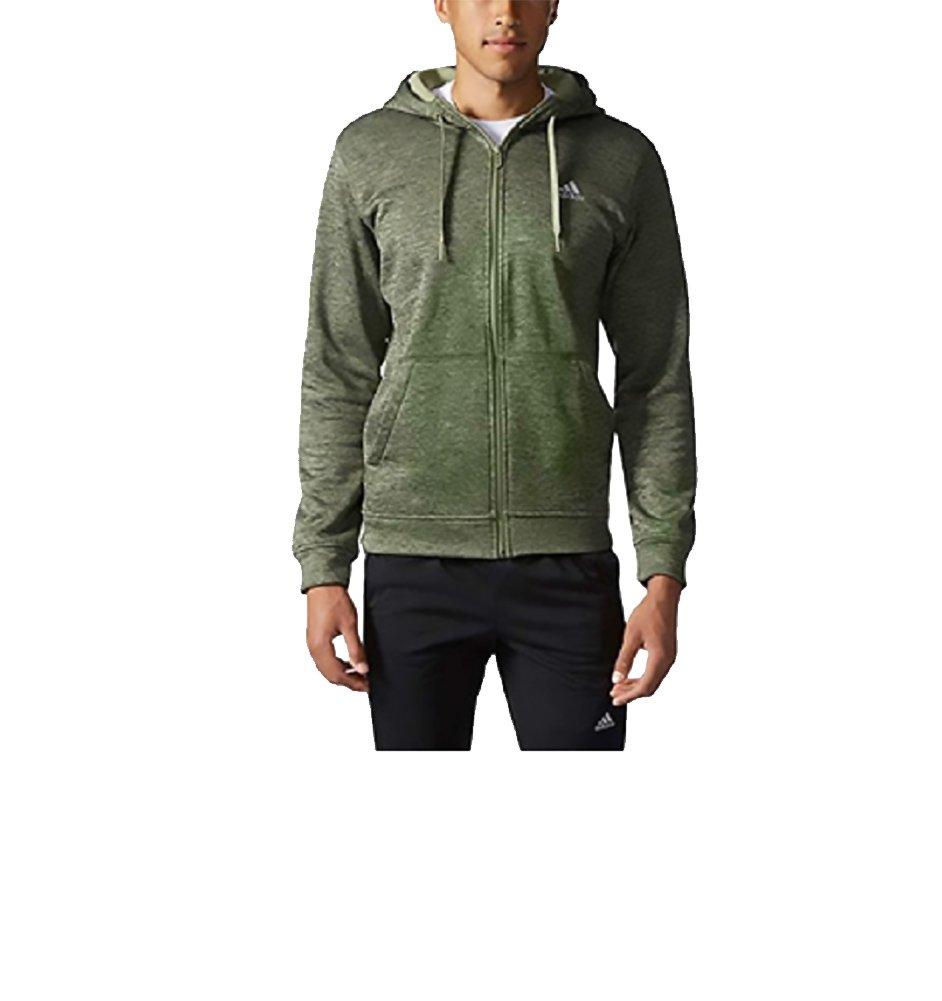 Adidas Men's Tech Fleece Full Zip Hoodie, Green Heather, Medium by adidas
