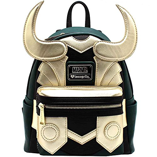 Avengers Loki Faux Leather Mini Loungefly Backpack Standard from Loungefly