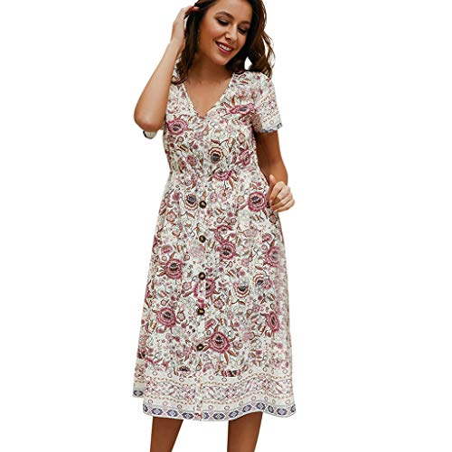 - Aanny Short Sleeves Wrap V Neck Belted Empire Waist Asymmetrical High Low Bohemian Party Maxi Dress