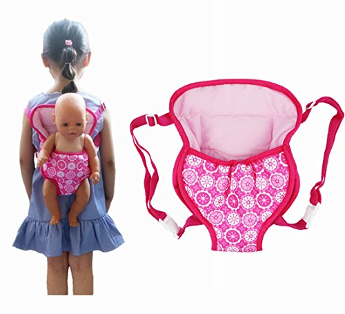 Doll Accessory Pack - XADP Baby Doll Carrier Backpack Doll Accessories Front/Back Carrier with Straps- Fits 15 to 18 inch Dolls