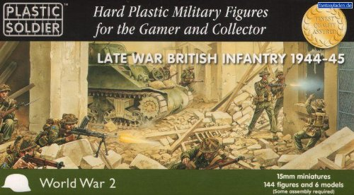 Late War British Infantry MINT/New from Plastic Soldier Company