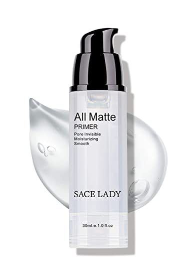 Amazon Com Sace Lady Face Makeup Primer All Matte Pore Minimizing Primer Smooth Wrinkles Fine Lines Flawless Makeup Base Long Lasting And Oil Free Size 1 01fl Oz Color Transparent Beauty