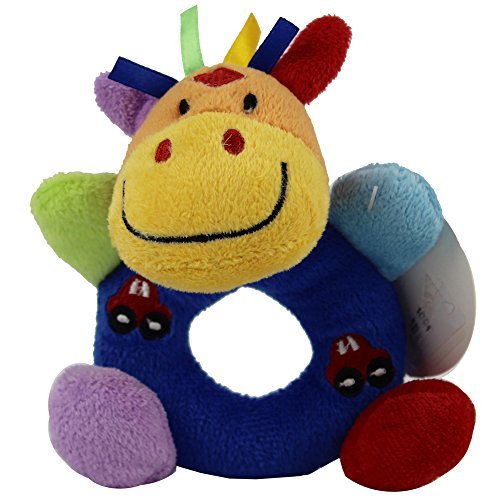 Baby's First Wrist Rattle Learning Stuffed Animal Hand Bell Plush Doll Toys for Kids Xmas Gift (Tag Along Chimes)