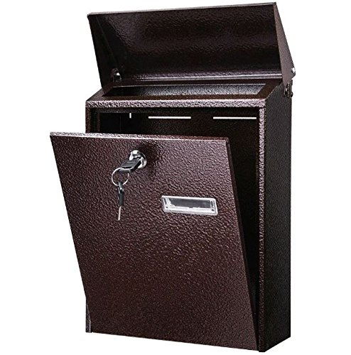 Wall Mount Drop Box 12'' Office Mailbox Wall Mount Corrosion-Resistant, Anti-rust and Weather-proof