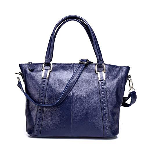 Bandoulière Royal Pour Véritable Femme En Houyazhan Blue À Cuir color Blue Capacité Sac Grande PEnEgqw1