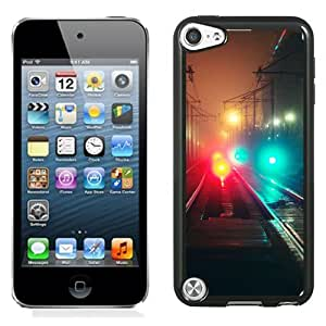 New Beautiful Custom Designed Cover Case For iPod 5 With Railroad Tracks At Night Phone Case