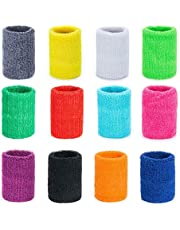 ZWOOS Sport026 24 Pack Absorberende zweetband voor Tennis Squash Badminton Gym Basketbal (Mixen), klein